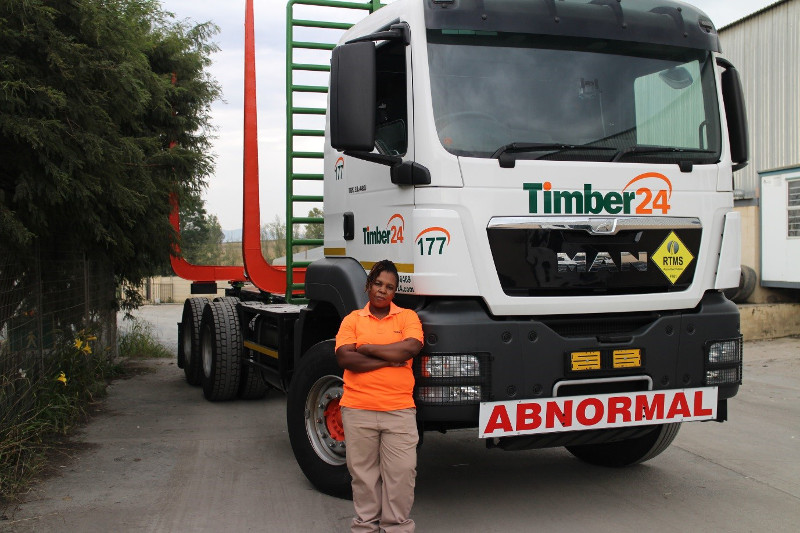 Male counterparts no deterrent for determined lady trucker